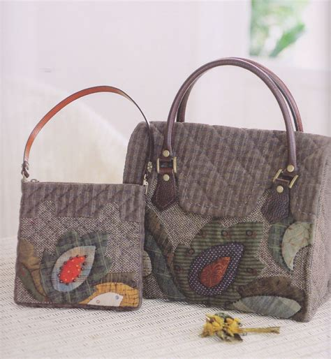 Patchwork Bags To Make - how to make tutorial set of shoulder tote bag handbag