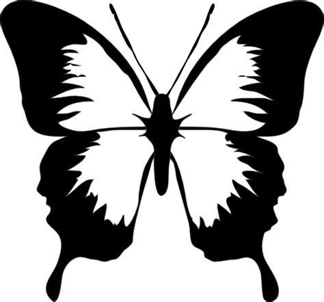 Black And White Butterfly Clipart black and white butterfly clip at clker vector