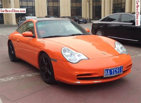 orange porsche targa porsche 996 911 targa is orange with a license in china