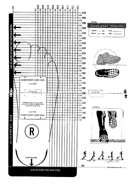 printable shoe size chart activity shelter shoe size