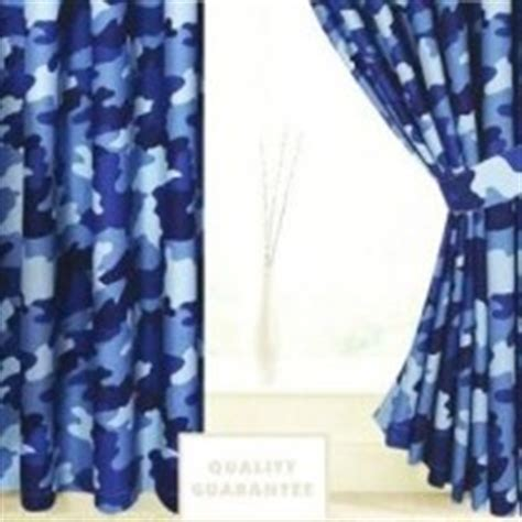 blue camouflage curtains children s printed curtains