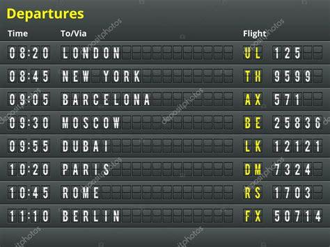 airport departures table stock vector 169 painterr 50585633