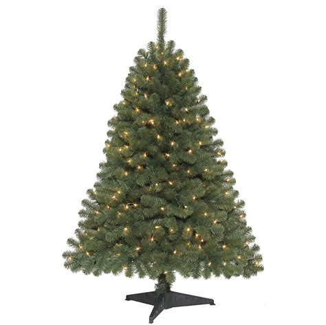 trim a home brilliant tree lighted 4 5 foot tree trim a home with kmart