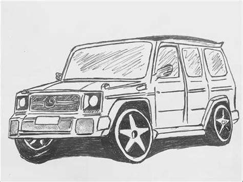 G Wagon Sketches by How To Draw Mercedes G Class By Photos