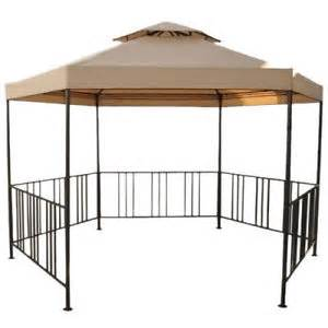 Metal Gazebo With Sides by New Garden Patio Deluxe Set Hexagonal Gazebo Metal With