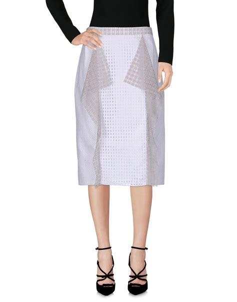 3 1 Phillip Lim Knee Length Skirt 3 1 phillip lim knee length skirt in white lyst