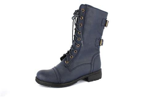 blue combat boots new blue womens designer combat boots shoes