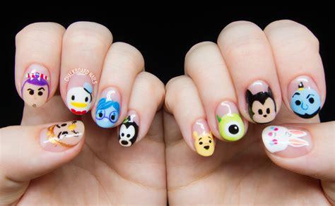 24 best images about disney nail arts on pinterest nail disney tsum tsum character nail art chalkboard nails
