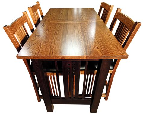 Amish Made Dining Room Sets by Galena Trestlend Table And Chairs Top View Amish