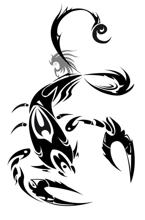 tribal scorpion tattoo designs scorpio ideas tribal