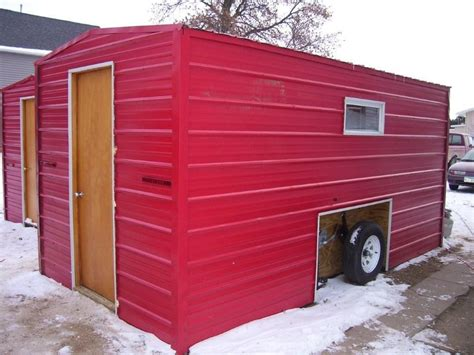 portable ice house red portable ice fishing house home inspiring