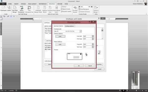 How To Make An Envelope Out Of Copy Paper - how to print to envelopes in microsoft word 2013
