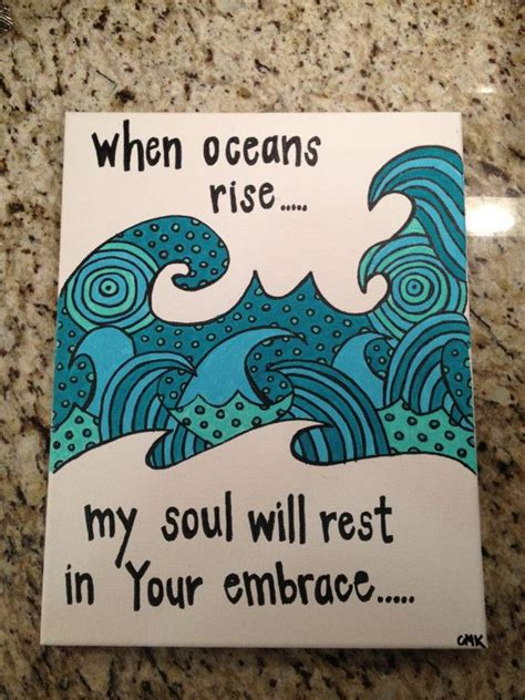 the wave embracing god in your trials books 11x14 quot oceans quot lyrics by hillsong united painting song