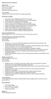 Social Work Resume Exle by Social Worker Resume Template