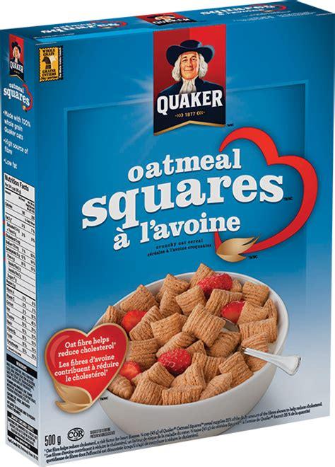 whole grain quaker oats quaker 174 oatmeal squares cereal quakeroats ca