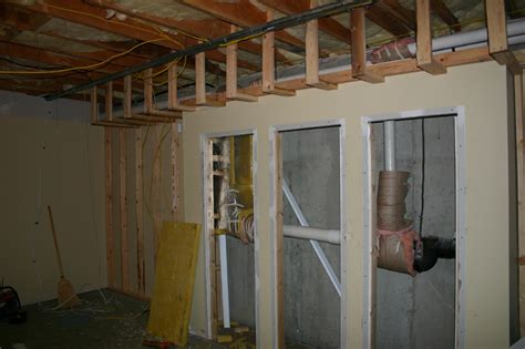 basement soffit framing basement framing exle 16 basement finish design