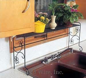 j j wire 187 kitchen sink shelf with daisies