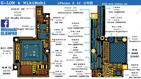 iphone board layout g lon examine the iphone x mainboard and ic distribution