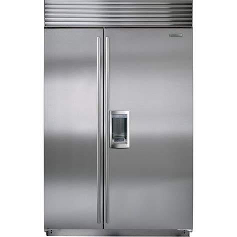 sub zero refrigerator sub zero bi 48sd s ph 48 quot built in side by side refrigerator with dispenser classic stainless