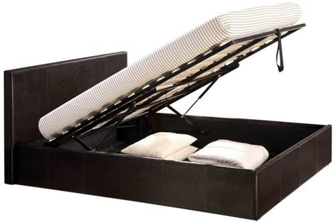 lit coffre 160x200 chocolat avec sommier lit design pas cher