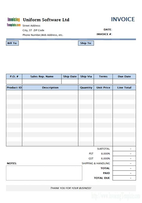 sle invoice letter for services free printable invoices download letter size