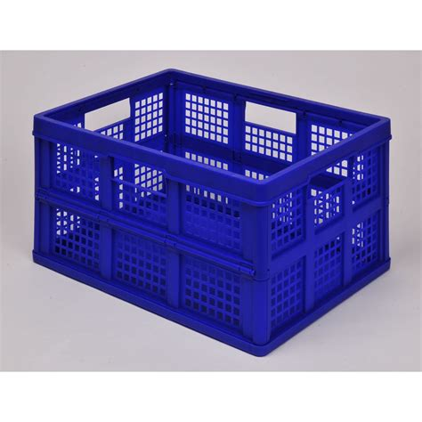 folding crate sale on really useful box 32l really useful folding crate solid blue really useful