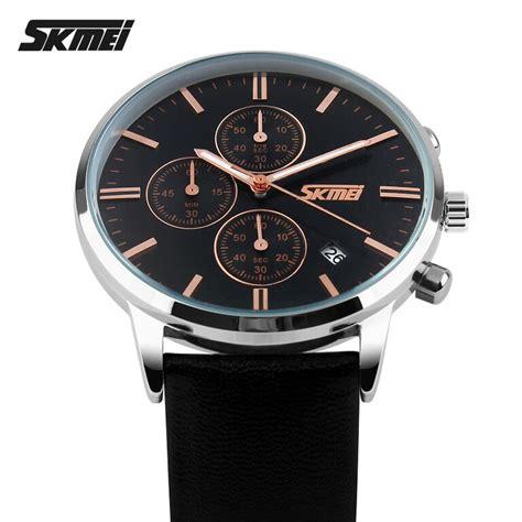 Jam Tangan Pria Skmei Casual Leather Jam T Berkualitas skmei jam tangan analog pria 9103cl black black jakartanotebook