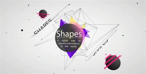 cool after effects templates 20 cool after effects templates with animated shapes