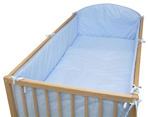 bed bumpers cot cot bed all round large cot bumper plain blue