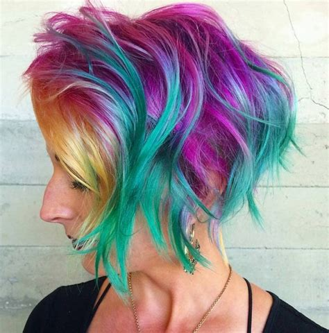 colorful short hair styles 50 hottest balayage hairstyles for short hair balayage