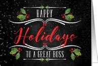 business christmas cards  boss  greeting card universe