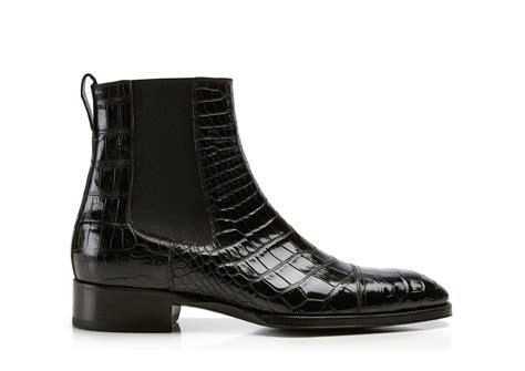 tom ford mens boots tom ford gianni alligator cap toe chelsea boot black
