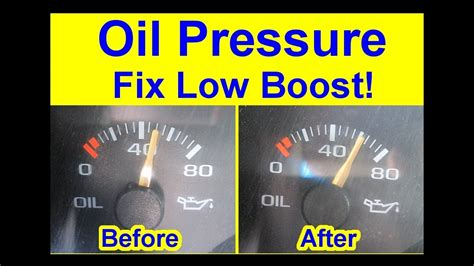 diy   fix oil pressure  boost quick tips warning light  high gauge jump youtube