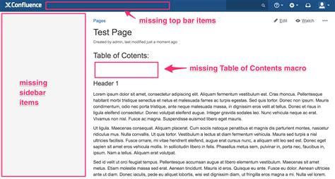 top menu bar side bar and top bar menu items are missing when using