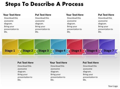 process steps template business powerpoint templates steps to describe process
