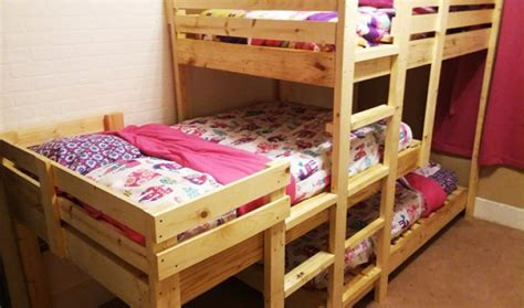 diy triple bunk beds diy triple bunk beds howtospecialist how to build