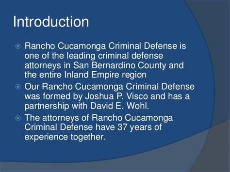 Attorney Rancho Cucamonga by Experienced Criminal Defense Attorney In Rancho Cucamonga