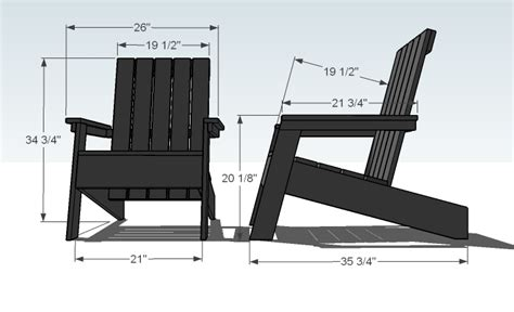 layout plan chair modern adirondack chair plans home furniture design