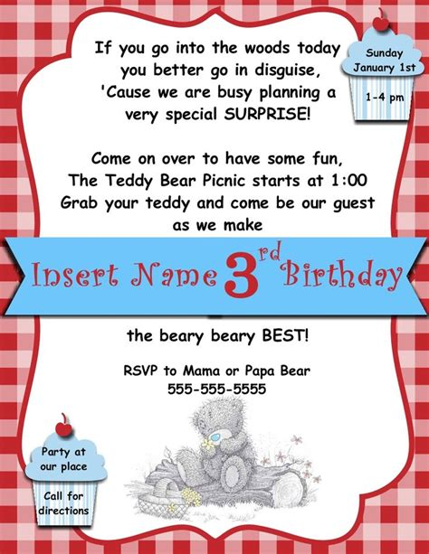 picnic invitation template digital teddy picnic invitation template stin