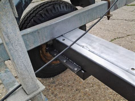 snipe boat trailer spares uk new axle and suspension units fitted to snipe boat trailer