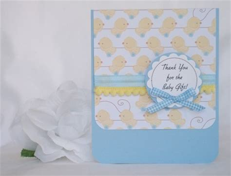 Handmade Baby Thank You Cards - baby gift thank you with many exles of handmade cards