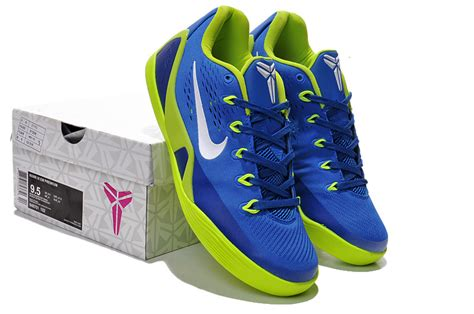 blue and green basketball shoes original nike bryant 9 low blue green basketball