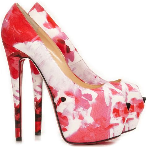 christian louboutin highness 160 pink popi satin shoes
