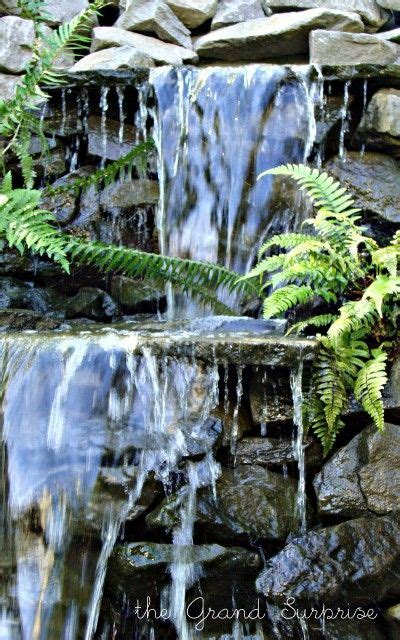 homemade waterfalls backyard diy backyard waterfall gardening pinterest