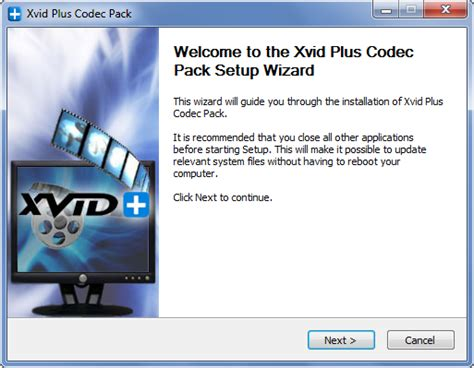 xvid format dvd player xvid plus codec pack with one small download xvid plus