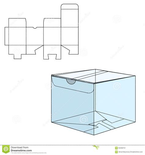 package design layout vector box die cut stock vector illustration of package product