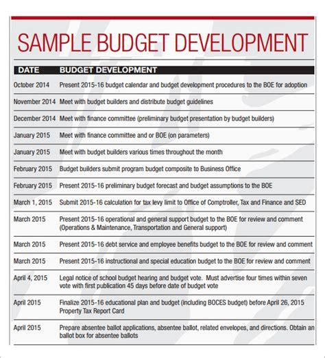 Budget Calendar Pdf Sle Budget Calendar 4 For Pdf