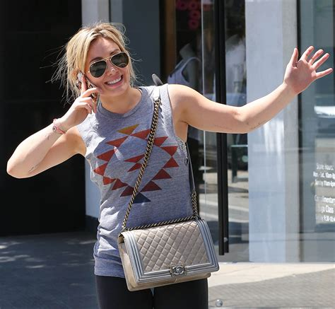 Totobag Black Gold Saw Tas Bgs hilary duff is as excited about chanel boy bag as we