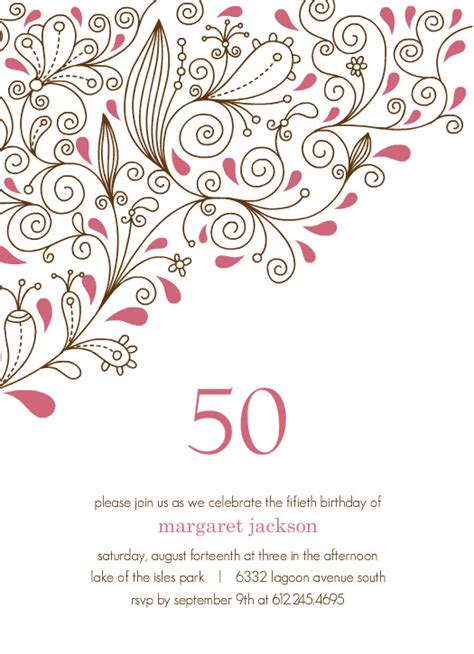 Free 50th Birthday Card Template by 301 Moved Permanently