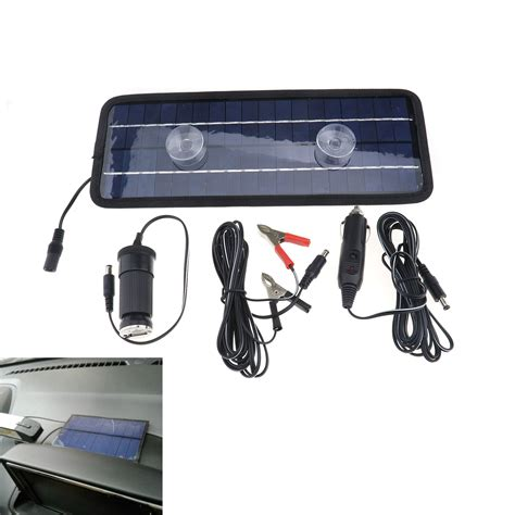 boat battery trickle charger solar powered 4 5w car auto boat motor 12v battery